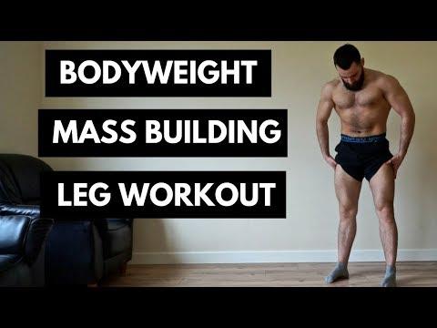 Bodyweight Leg Workout For Mass At Home - No Equipment
