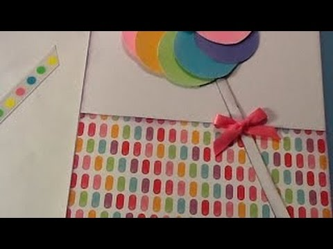 how to make paper circle lollipop