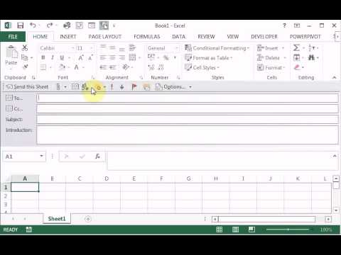How to send an Microsoft Excel sheet as the body of an Email message via Outlook