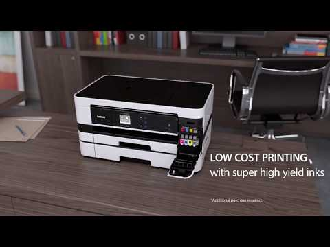 How to load paper into the Brother MFCJ69200DW - Brother Inkjet Paper A4