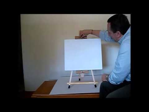 Swing Easel - Securing a canvas to the easel
