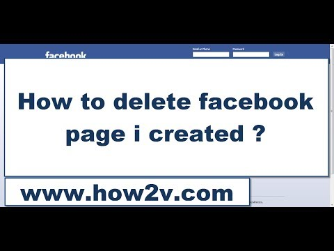How to delete facebook page i created