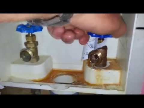 Plumbing Repairs: Replacing Leaking Cold Water Screw on Laundry Valve (Faucet)