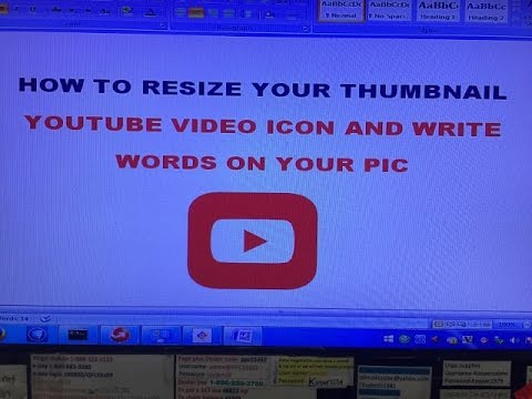 How To Resize Your Photo Thumbnail For Youtube