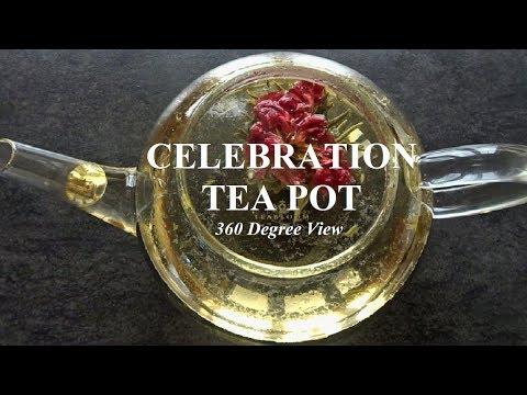 Celebration Teapot For Blooming Tea & Loose Leaf Tea 🌸 Teabloom