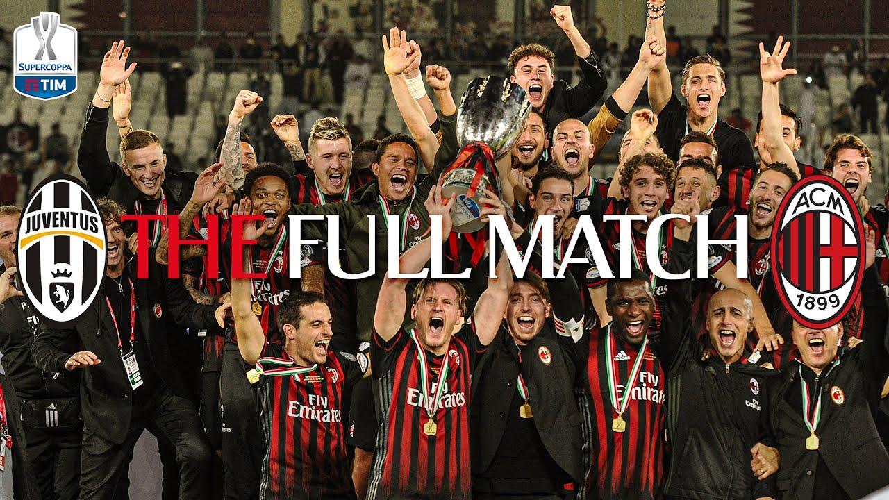 THE FULL MATCH | Juventus 1-1 (4-5 pen) AC Milan | Supercoppa Italiana 2016