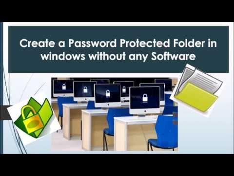 How to Create a Password Protected Folder in Windows without any software