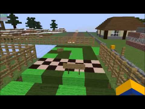 Minecraft - Creative Mode - Horse Racing Project! [7]