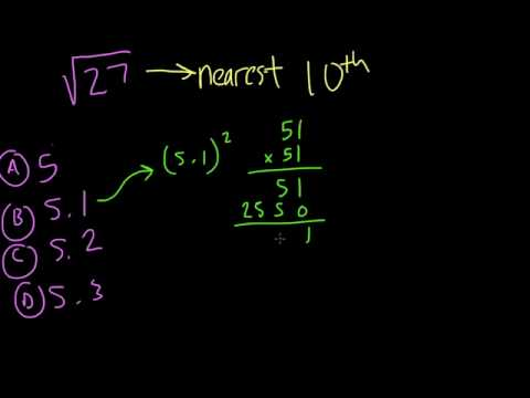 Estimating square roots to the tenth - #37