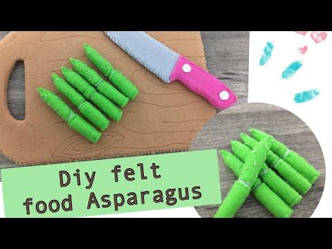 Diy felt food Series # No. 2 Felt Asparagus tutorials
