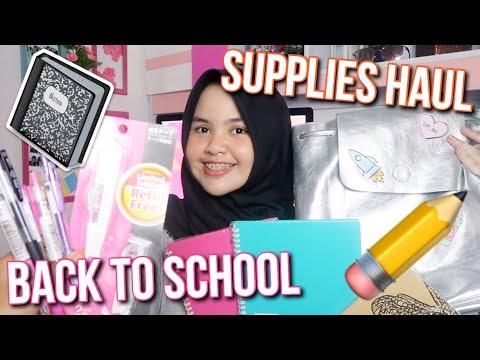 BACK TO SCHOOL SUPPLIES HAUL 2017 - Cantika Putri