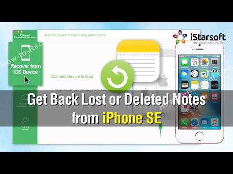 How to Get Back Lost or Deleted Notes from iPhone SE