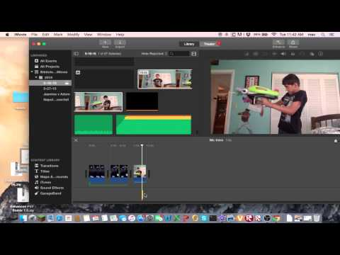 How to edit a gun muzzle and sound on iMovie