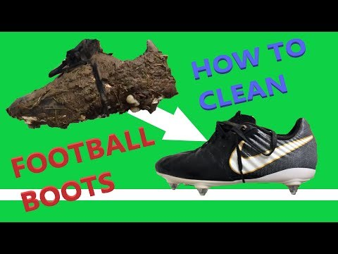 How to Clean your Football Boots | Transform Kids Muddy Soccer Boots to look like New !