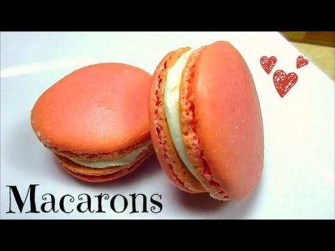 How To Make French Macarons (Strawberries and Cream)