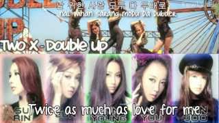 Two X - Double Up {Eng Sub + Romanization + Hangul}HD