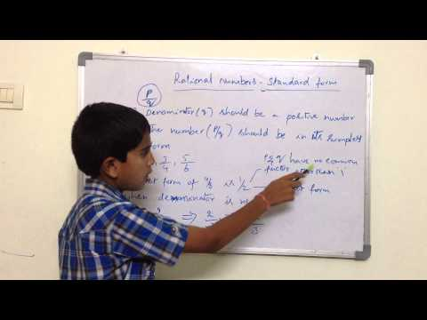 MatheMatics -  Rational Numbers - Standard form by Hrishi