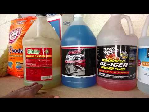 Windshield washer fluid for your car or truck. Some can freeze and damage your system. - VOTD