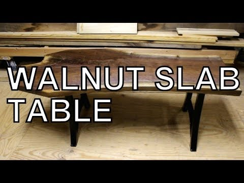 IF YOU WANT TO BUILD LIVE EDGE FURNITURE THEN WATCH THIS VIDEO, WALNUT SLAB  COFFEE TABLE BUILD