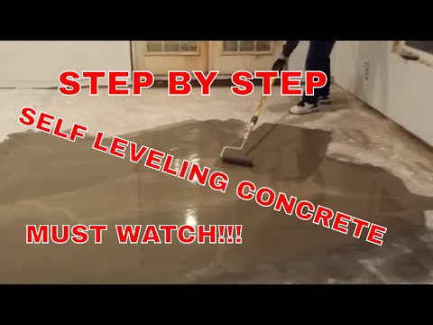 HOW TO INSTALL SELF LEVELING CONCRETE AND CEMENT