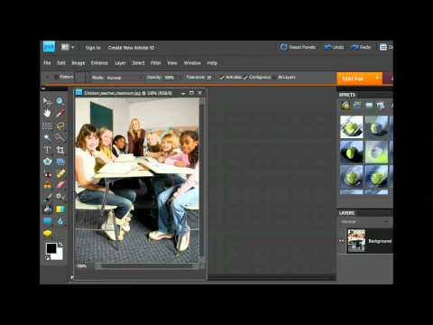 PhotoShop - Work with the Eraser and Paint Bucket - Imaging And Multimedia