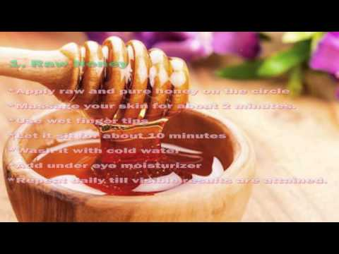 How to Remove Dark Circles with Honey