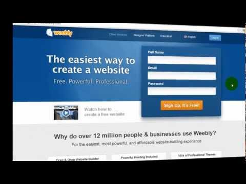 Weebly Tutorial - How to Sign Up and Set Up Domain Name with Weebly