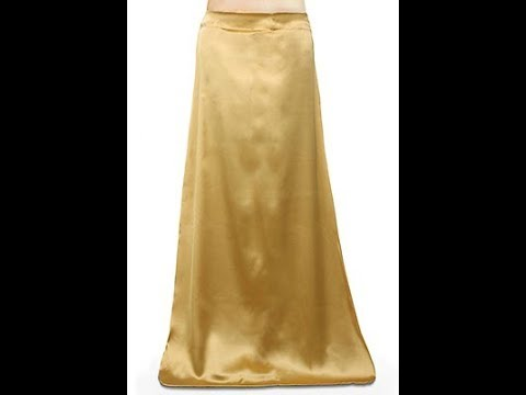 Satin Petticoat/ Inner Skirt for Transi Sarees, Net Ghagaras, Lehenga Choli- Cutting and Stitching