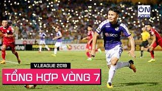 Tổng hợp Vòng 7 | Hà Nội lên đỉnh và những cơn mưa bàn thắng tại Pleiku, Lạch Tray | On Sports