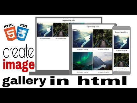 how to create image gallery in html