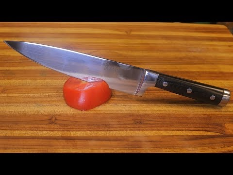 Azadohome Chef Knife Unboxing - stainless steel cutlery - sharp knife review