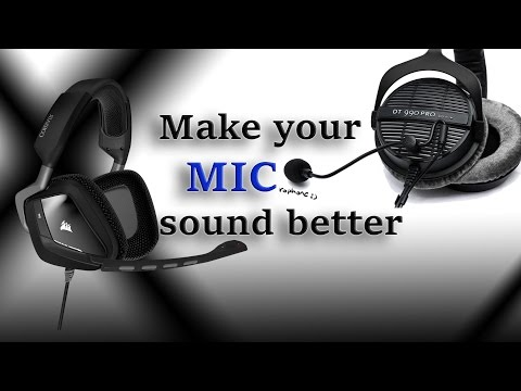 How to make mic sound better? using Equalizer APO