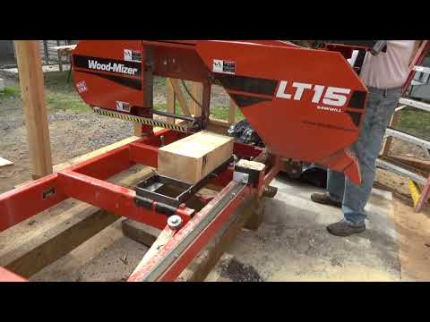Cutting shingles with the Woodmizer LT15