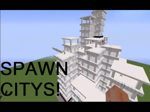 HOW TO SPAWN CITIES USING COMMANDS- MINECRAFT  NO MODS!