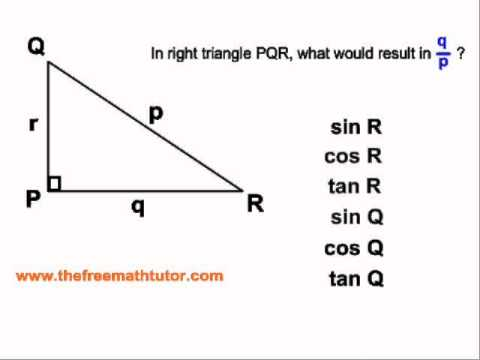 Assigning Sides For Trig Ratios - Examples 1 and 2