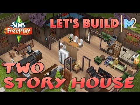Sims FreePlay - Let's Build a 2-Story House (Live Build Tutorial)