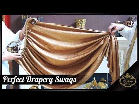 Perfect Drapery Swags - Luxurious and Elegant Window Dressings | Galaxy Design Video #154