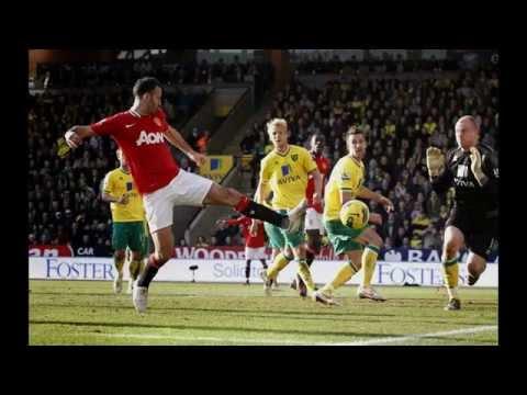 Manchester United vs Norwich April 2014 City Premier League  English