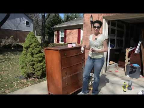 How to Paint a Dresser Using Shabby Paints - DIY Furniture Makeovers - Thrift Diving
