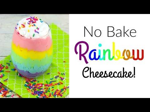 No Bake Rainbow Cheesecake! | Nerdy Treats Ep.3