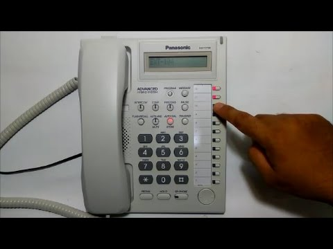 Mengisi Nomor Extension Telepon Panasonic KX-T7730