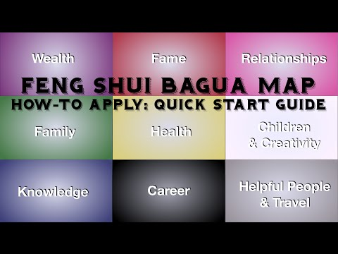 How To Apply the Feng Shui Bagua Map - Quick & Easy (with Subtitles)