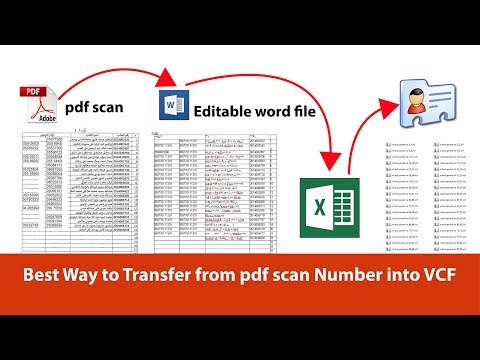 Transfer Scanned PDF Mobile number into your Android or iPhone Easily ~ Excel to VCF Converter
