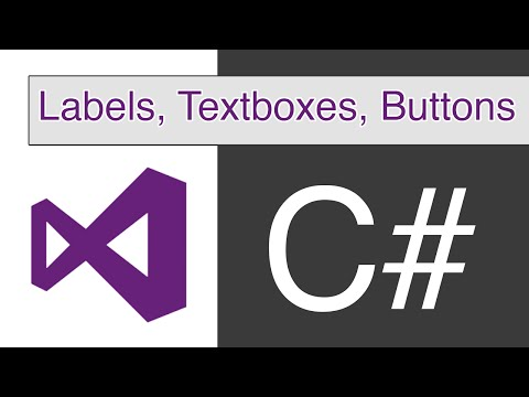 Visual Studio - C# - Labels, Textboxes and Buttons
