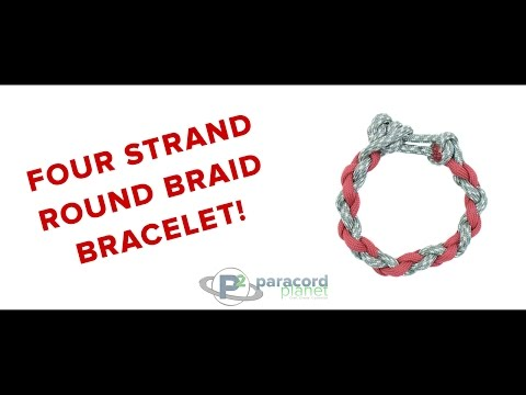 How To Make A Four Strand Round Braid Paracord Bracelet
