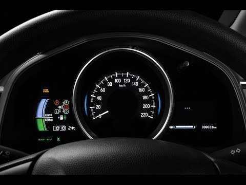 Honda Fit Hybrid Basic Startup Sequence and Meter and Display in URDU