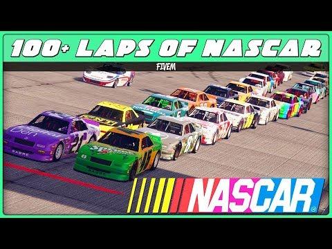GTA 5 Racing - 100+ Laps of NASCAR in Hotrings! (Highlights) [FiveM]