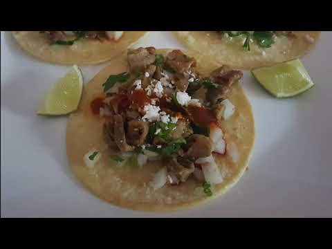 Tripas Tacos (beef chitterlings)