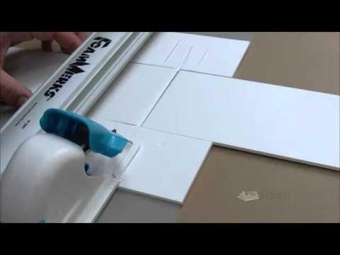 Foam board House Plan display mounting using printed foam b