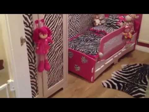 Baby Jessica's hot pink and zebra room tour 🐾